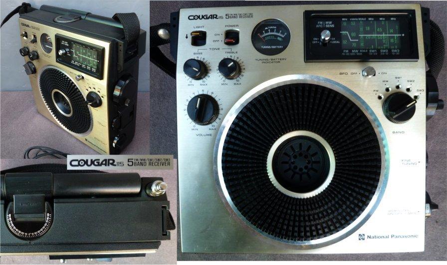 ★BCLラジオ ナショナル クーガ115 RF1150 ジャイロアンテナ 5バンド(FM/MW/SW1/2/3) National/Panasonic 美品