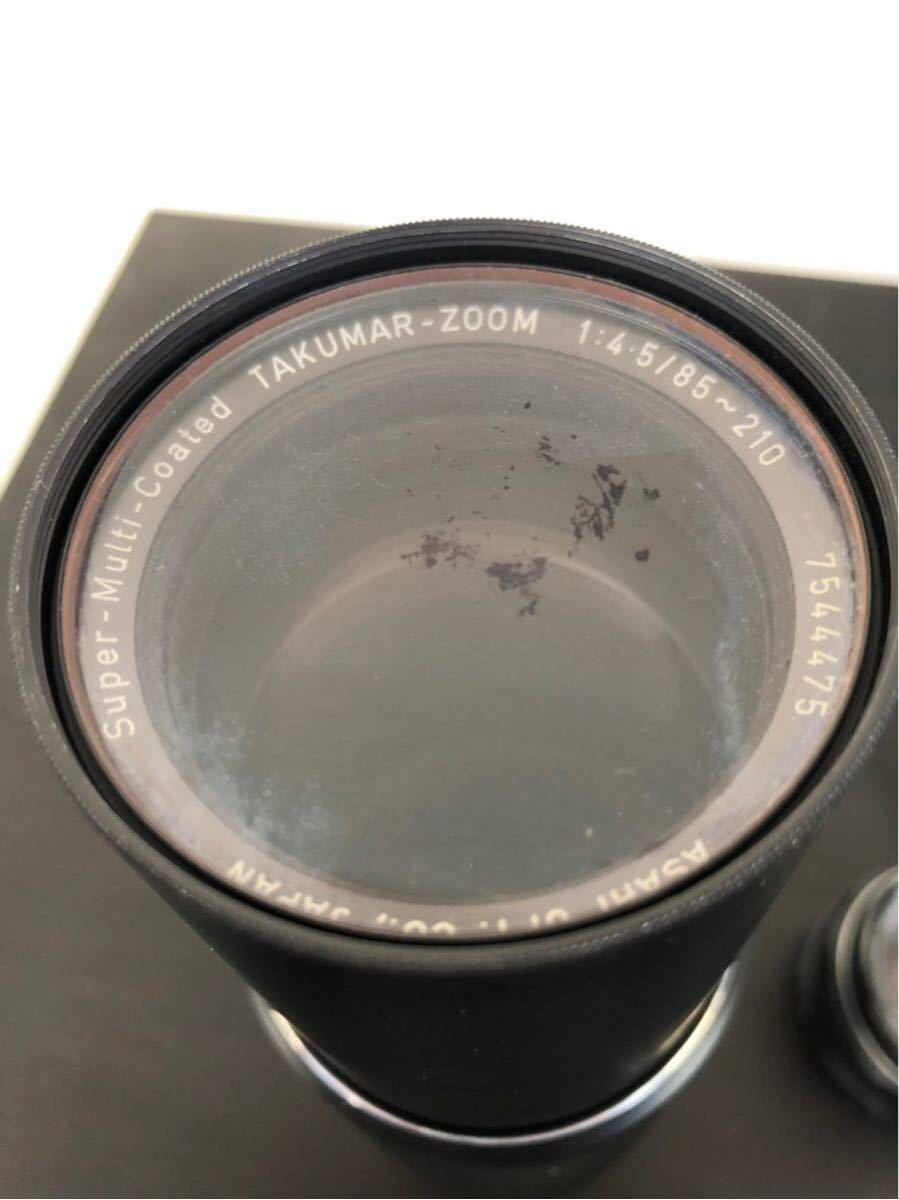 PENTAX ペンタックス SPOTMATIC ES 一眼レフ フィルム カメラ SMC TAKUMAR 50mm f/1.4 1:4 5 レンズ セット_画像8