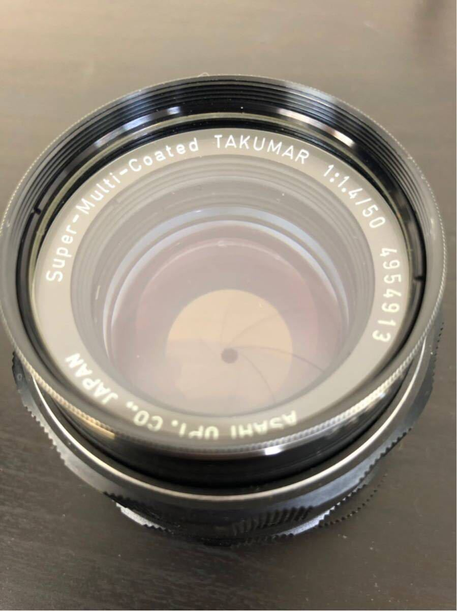 PENTAX ペンタックス SPOTMATIC ES 一眼レフ フィルム カメラ SMC TAKUMAR 50mm f/1.4 1:4 5 レンズ セット_画像7