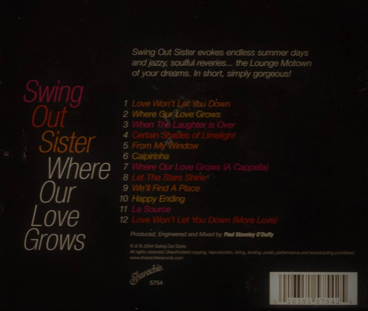 Swing Out Sister★スウィング・アウト・シスター★Where Our Love Grows★輸入盤_画像2