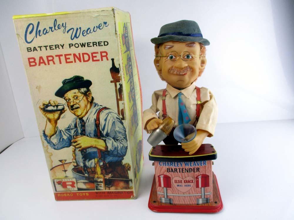 1950年代野村トーイ製 Charley Weaver 完動美品 高さ約30cm