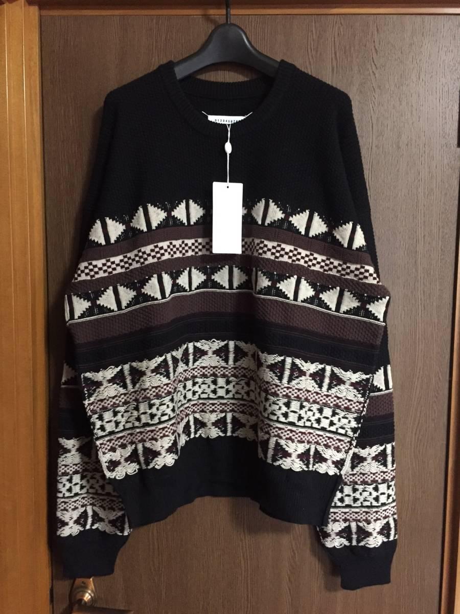 黒L新品56%off メゾンマルジェラ オーバーサイズ ニット セーター size L 48 Maison Margiela 10 メンズ ブラック スウェット 好きな方に
