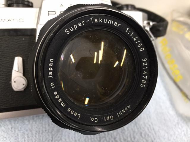 PENTAX ペンタックス 一眼レフカメラ SPOTMATIC F スポーツマチック 1:1.4/50 他2本 おまとめ 付属付 現状品 *3043A_画像2