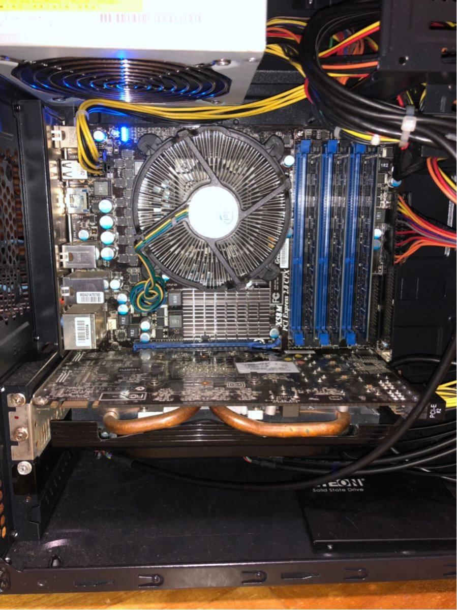 自作PC X58M メモリ6GB 新品SSD240GB 他_画像2