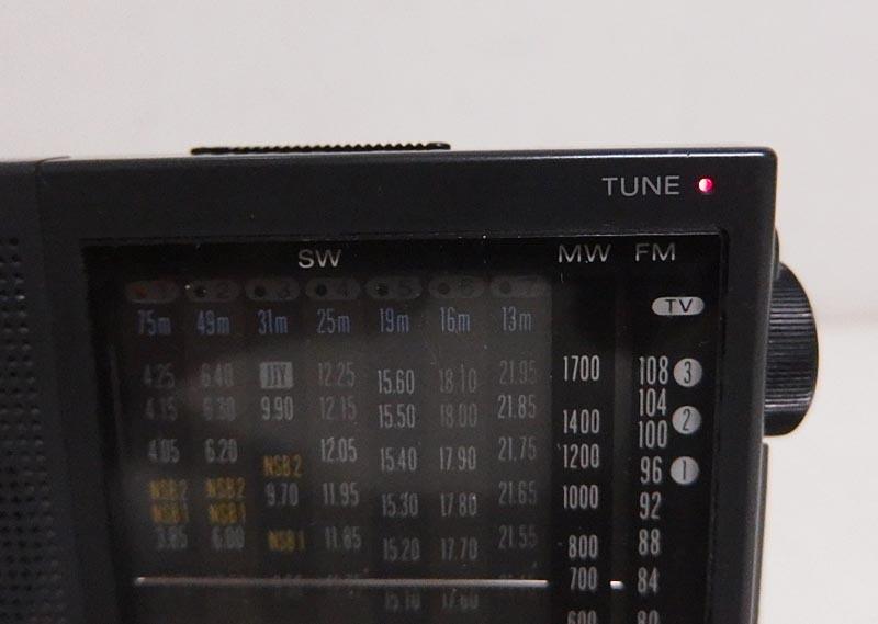 3z/ソニー9バンドポータブルラジオ/ICF-SW22/日本製/実働品/ジャンク出品/沖縄発送不可_画像7