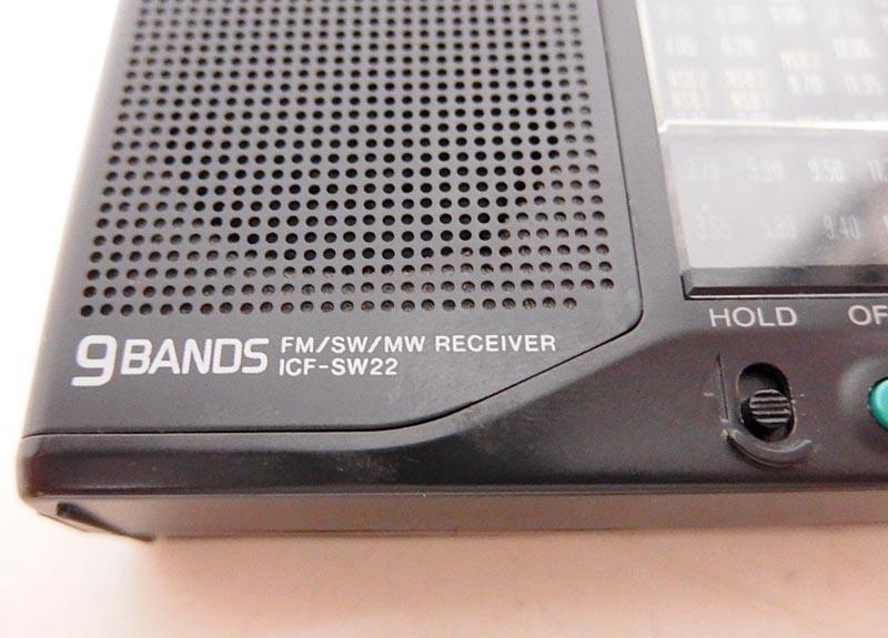 3z/ソニー9バンドポータブルラジオ/ICF-SW22/日本製/実働品/ジャンク出品/沖縄発送不可_画像9