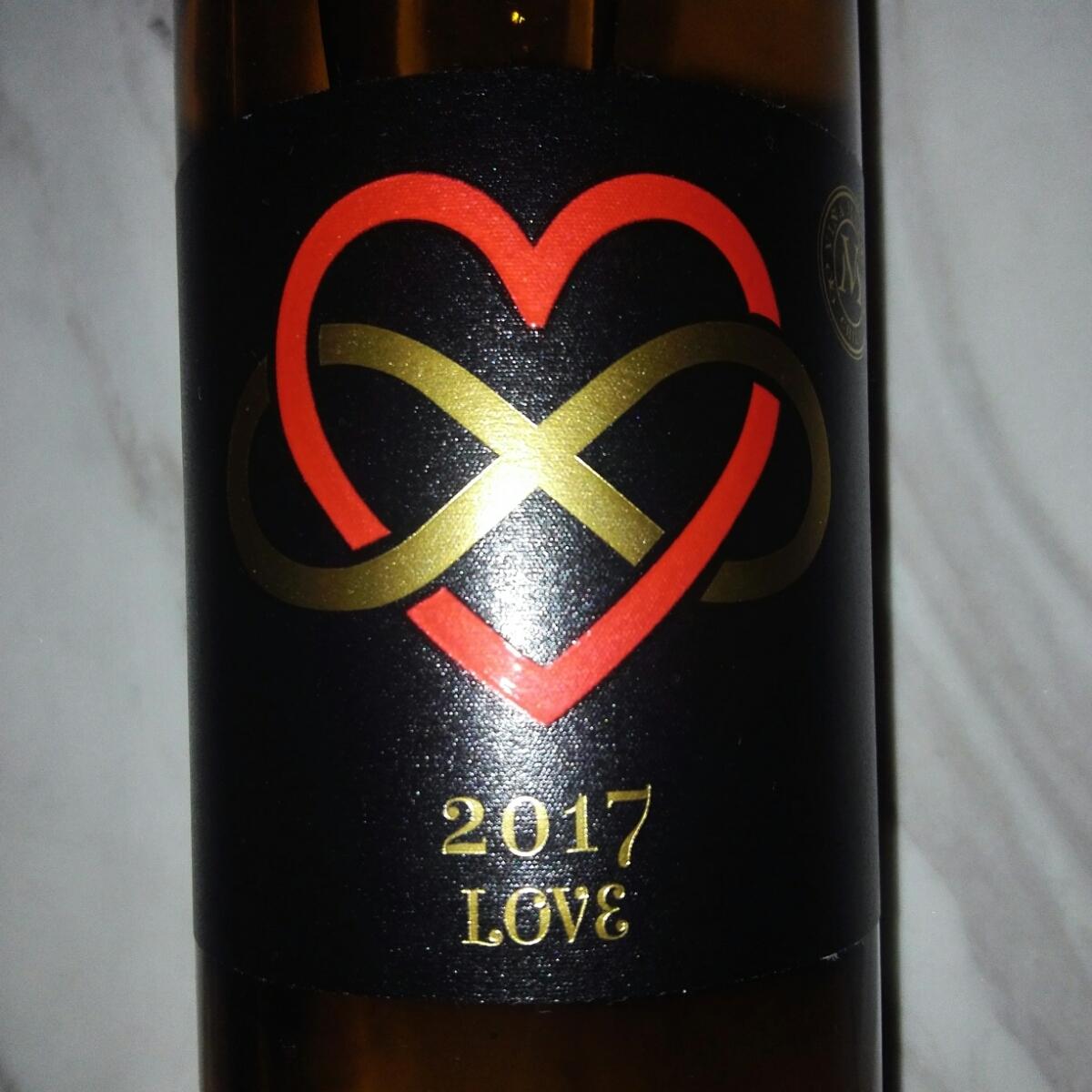 LOVEワイン 2017 Chardonnay シャルドネ Sauvignon Blanc ソーヴィニヨンブラン LOVE ラブワイン 白ワイン チリワイン 恋人 愛 ジャケ買い_画像2