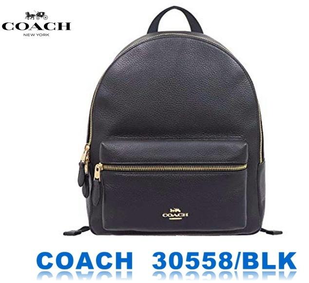 8ee5e0781453 代購代標第一品牌- 樂淘letao - COACH バッグリュックF30550 ブラックコーチチャーリーペブルドレザーミディアムバックパック