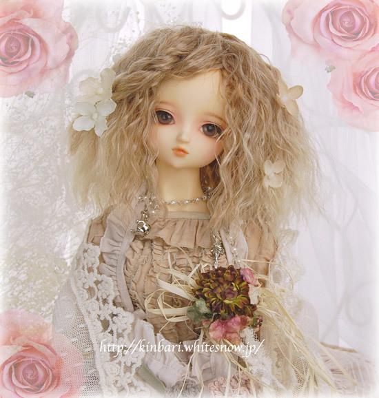 ◆金針水晶◆SDサイズ「カチューシャ付フルフィ・メイデン/ハニーシルバー」