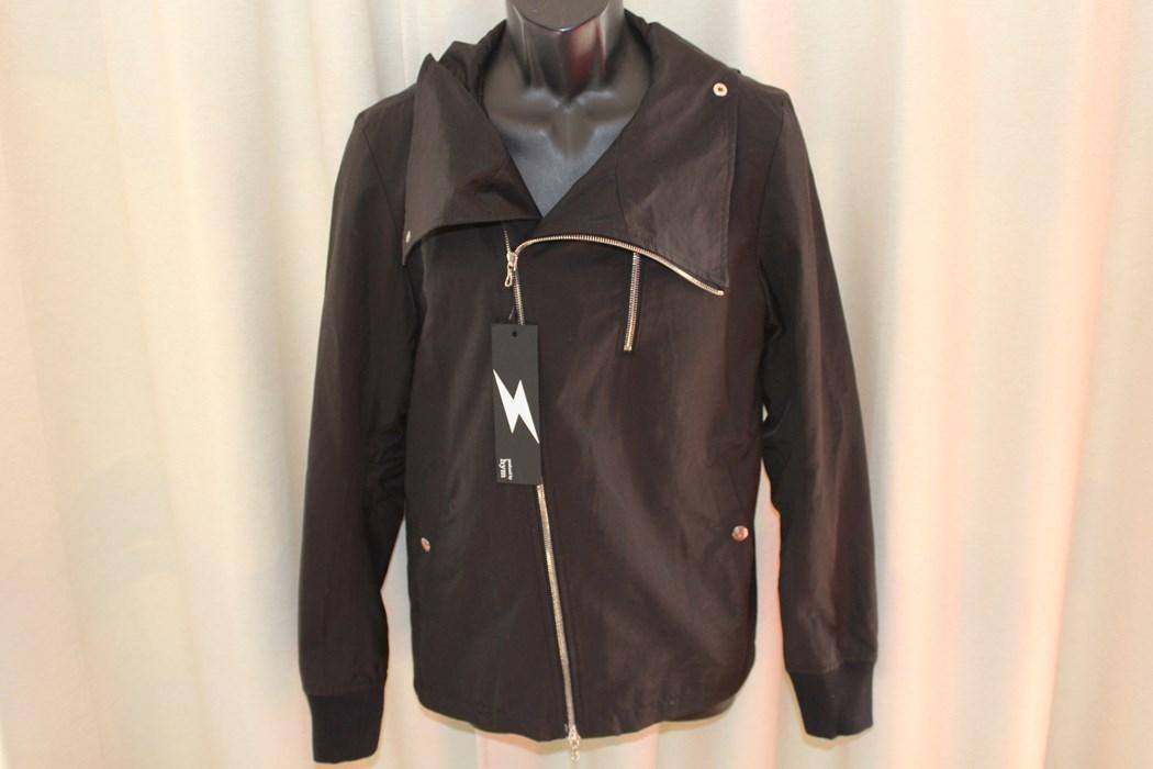 エイチワイエム hym メンズサイドジップブルゾン ジャケット ブラック サイズ48 日本製 新品_画像2