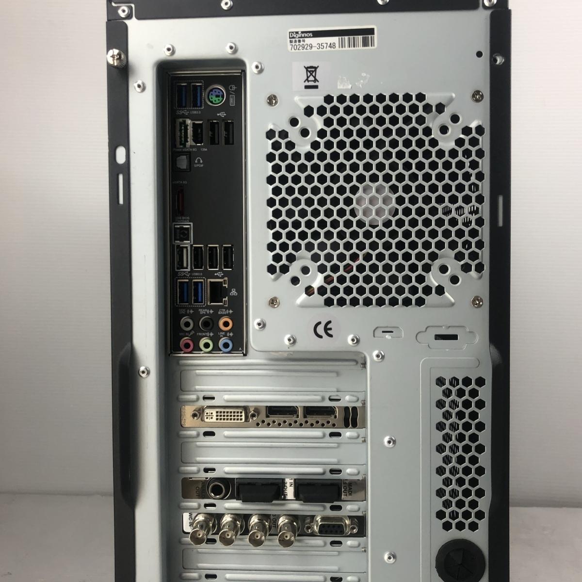 超大容量新品SSD480GB+HDD2TB★自作 高速★6コア i7 3930K★3.8G*12/メモリ16G/Quadro4000/Office2016/DVDスーパーマルチ/USB無線_画像4