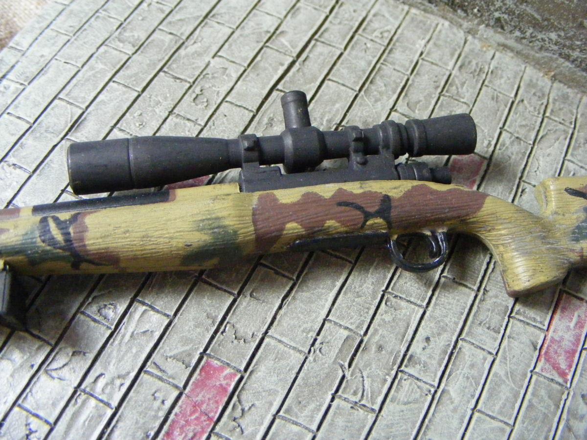 ■ 1/6スケール GIジョークールガール アメリカ海兵隊 レミントン M700改 M40A3 狙撃銃 専用スコープ付属 迷彩カラー仕様 新品未使用品!_画像3
