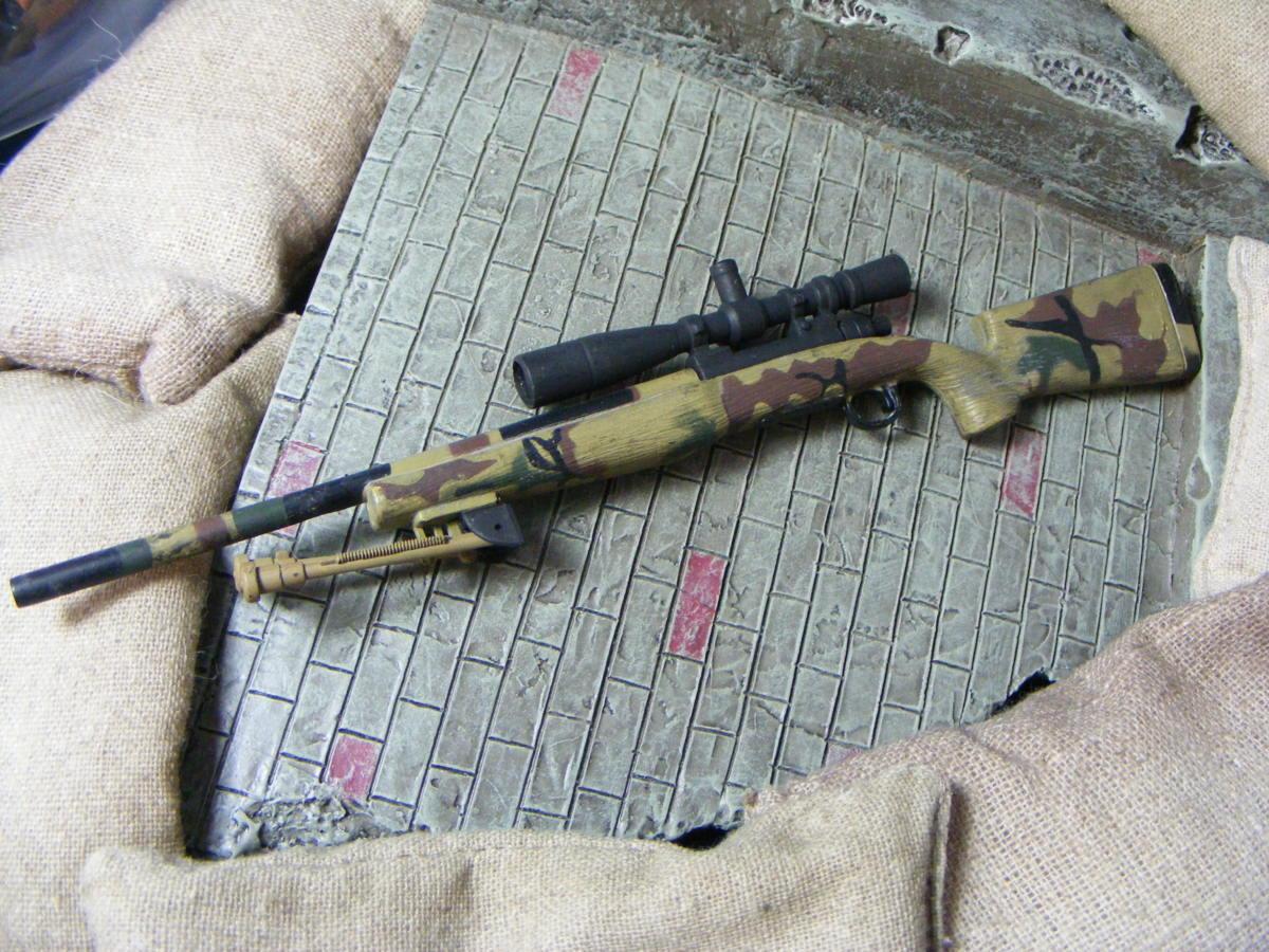 ■ 1/6スケール GIジョークールガール アメリカ海兵隊 レミントン M700改 M40A3 狙撃銃 専用スコープ付属 迷彩カラー仕様 新品未使用品!_1/6スケール