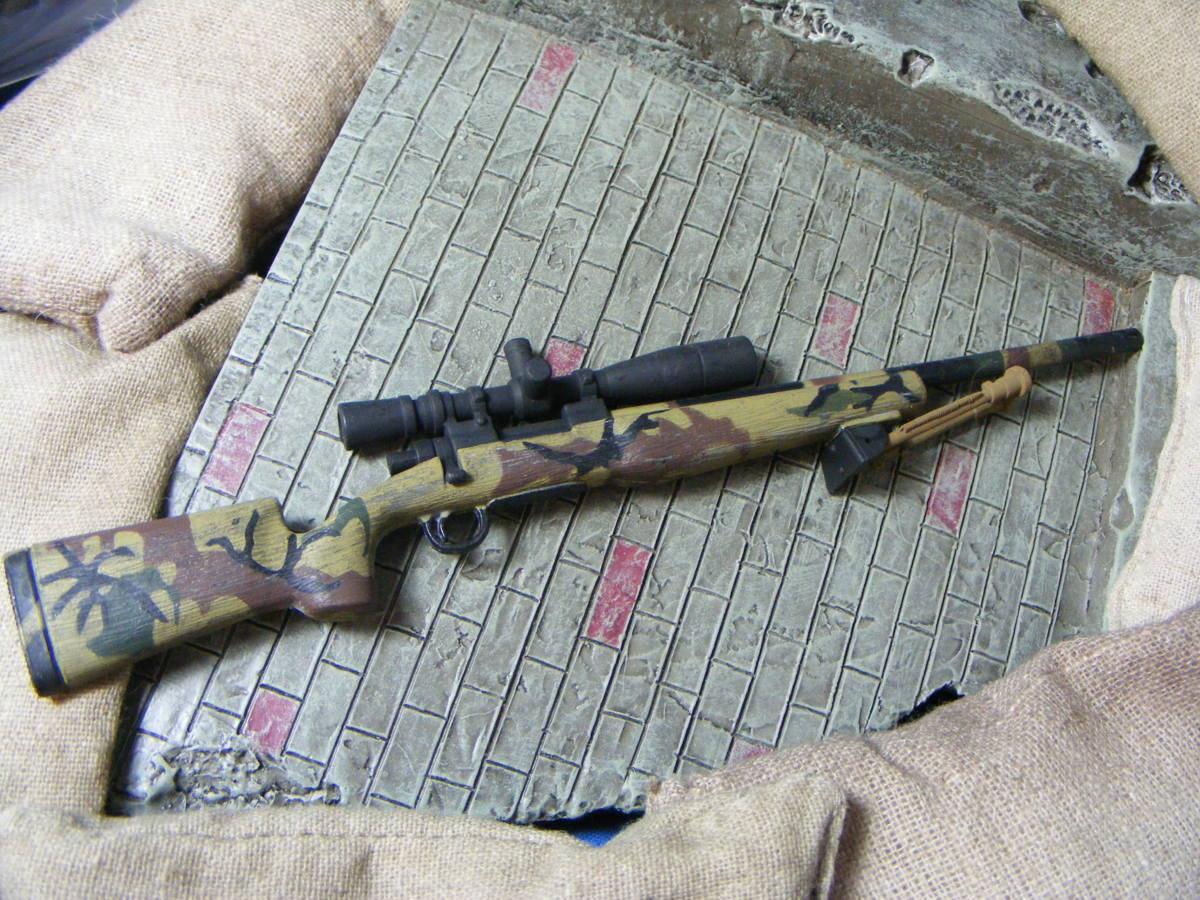 ■ 1/6スケール GIジョークールガール アメリカ海兵隊 レミントン M700改 M40A3 狙撃銃 専用スコープ付属 迷彩カラー仕様 新品未使用品!_画像5