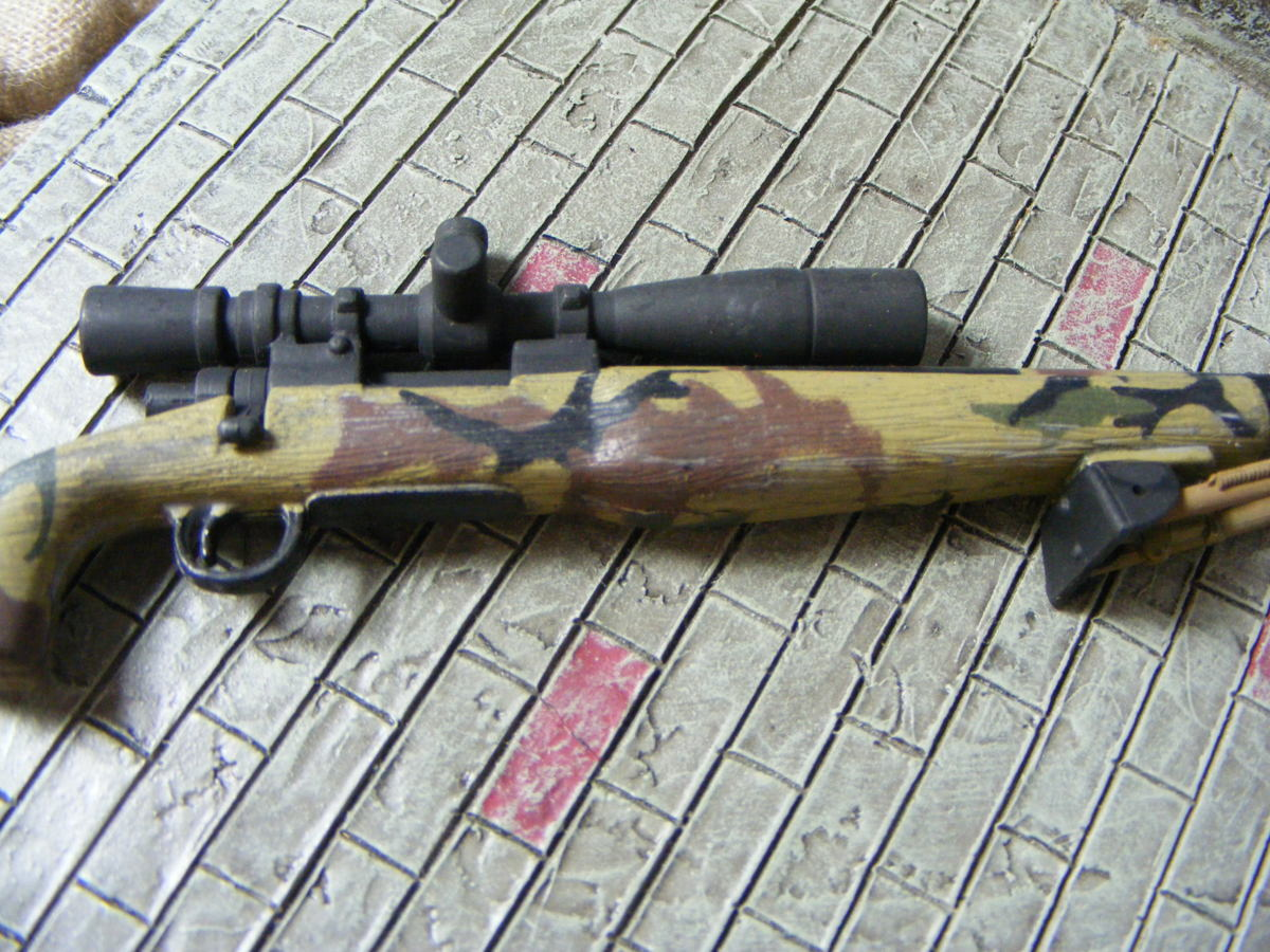 ■ 1/6スケール GIジョークールガール アメリカ海兵隊 レミントン M700改 M40A3 狙撃銃 専用スコープ付属 迷彩カラー仕様 新品未使用品!_画像7