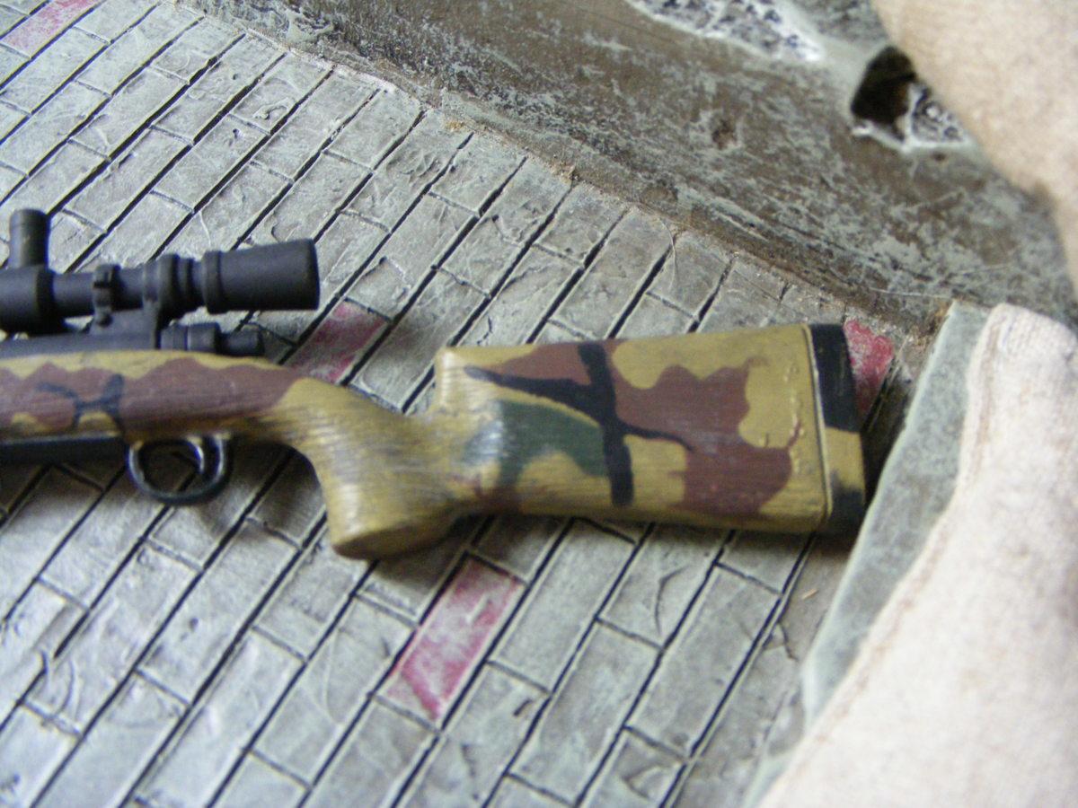 ■ 1/6スケール GIジョークールガール アメリカ海兵隊 レミントン M700改 M40A3 狙撃銃 専用スコープ付属 迷彩カラー仕様 新品未使用品!_画像4