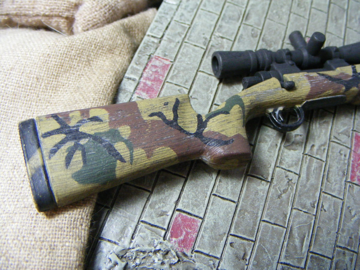 ■ 1/6スケール GIジョークールガール アメリカ海兵隊 レミントン M700改 M40A3 狙撃銃 専用スコープ付属 迷彩カラー仕様 新品未使用品!_画像6
