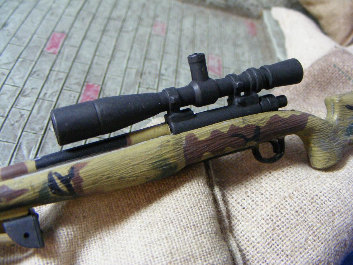 ■ 1/6スケール GIジョークールガール アメリカ海兵隊 レミントン M700改 M40A3 狙撃銃 専用スコープ付属 迷彩カラー仕様 新品未使用品!_画像9