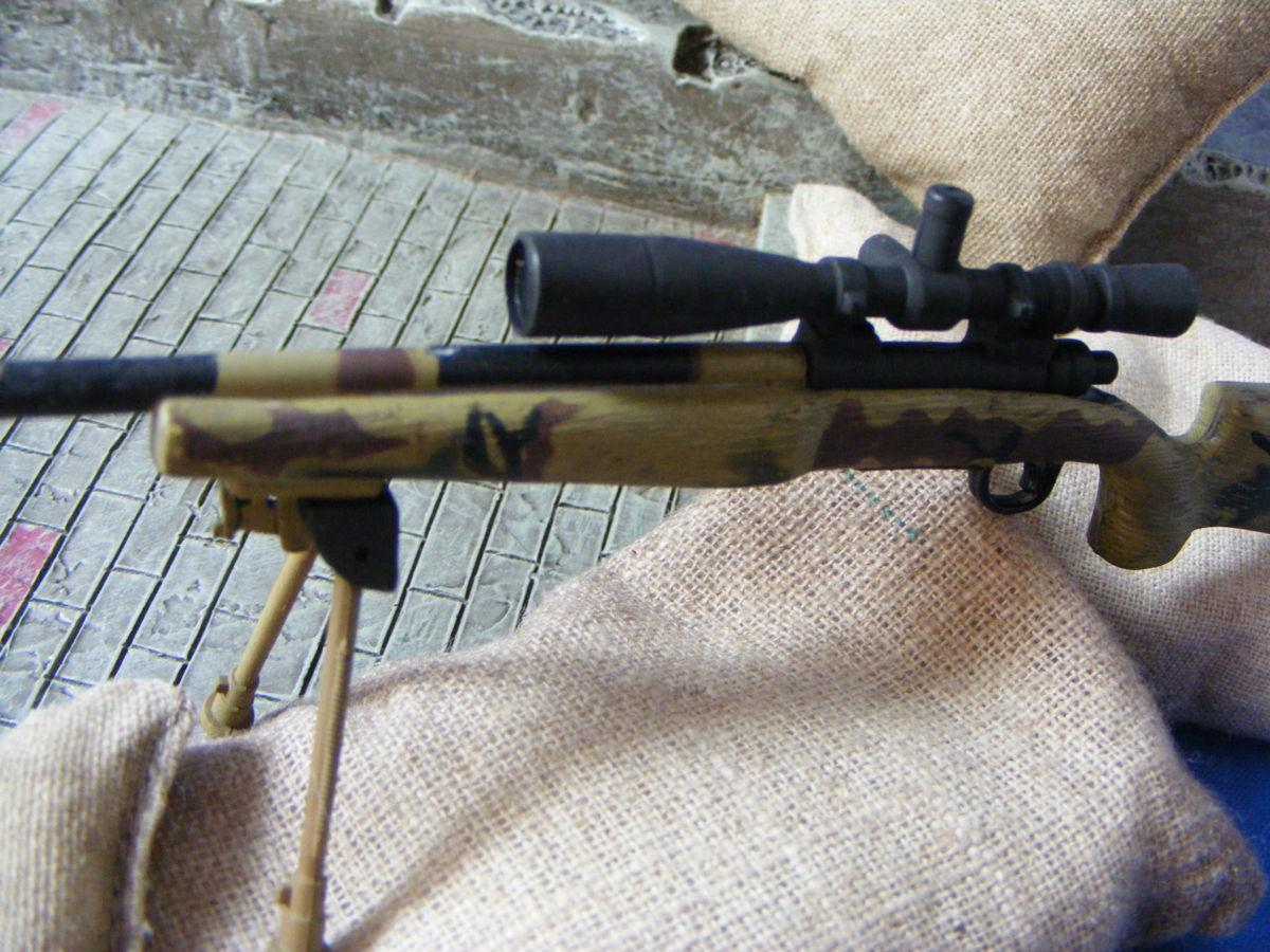 ■ 1/6スケール GIジョークールガール アメリカ海兵隊 レミントン M700改 M40A3 狙撃銃 専用スコープ付属 迷彩カラー仕様 新品未使用品!_画像10