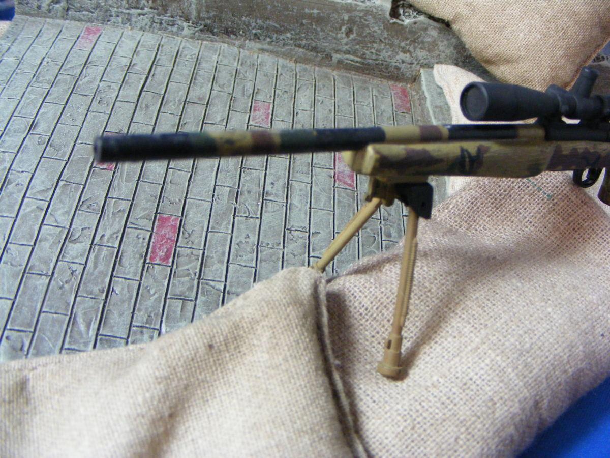 ■ 1/6スケール GIジョークールガール アメリカ海兵隊 レミントン M700改 M40A3 狙撃銃 専用スコープ付属 迷彩カラー仕様 新品未使用品!_画像8