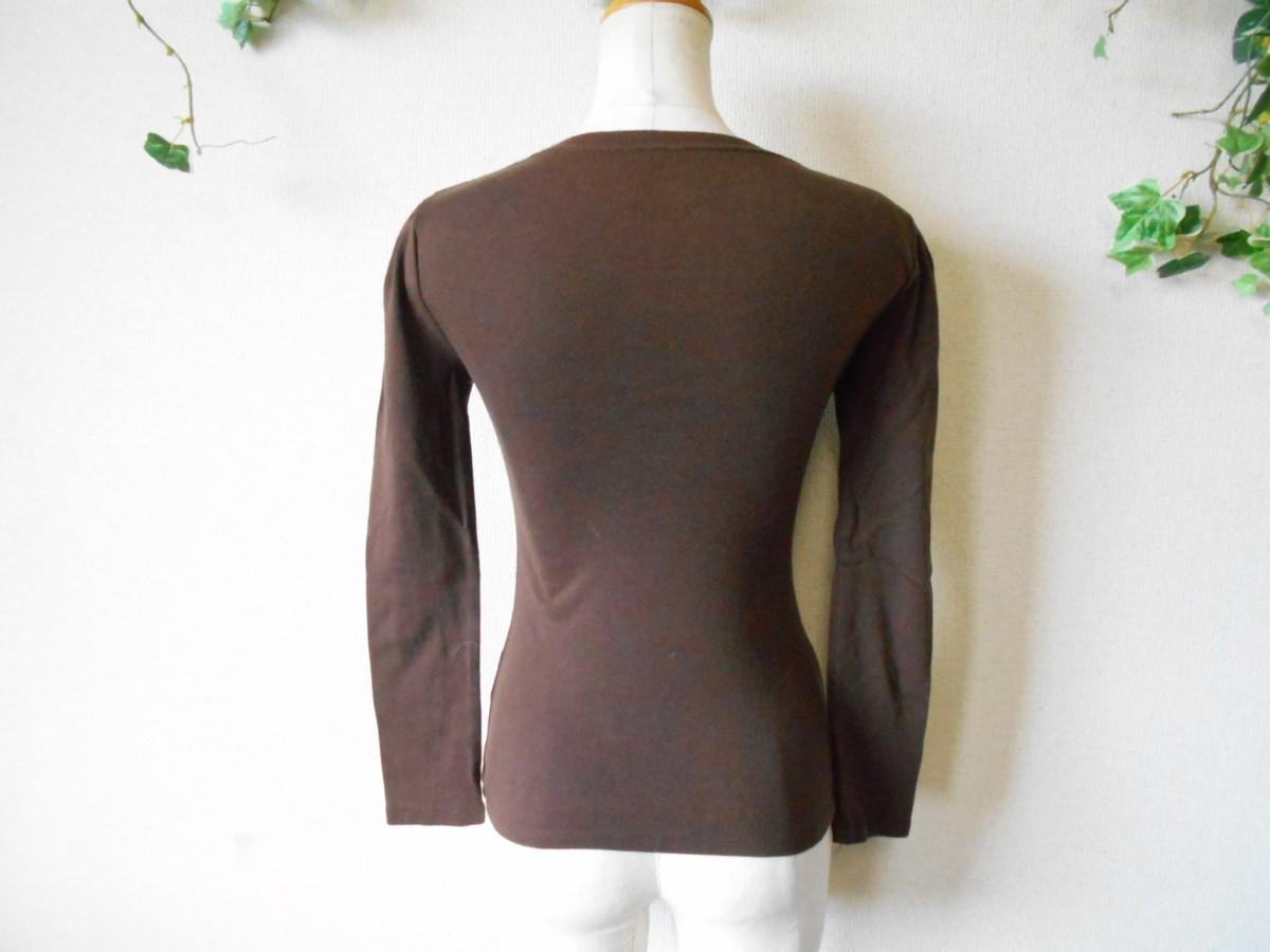 レストローズ LEST ROSE ライン ストーン 使用 リボン プリント の 可愛い 長袖 Tシャツ カットソー 2_画像6