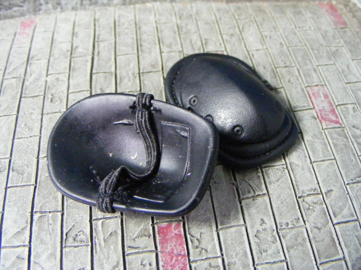 ■ 1/6スケール GIジョークールガール TACTICAL タクティカル GEAR NEE PAD Protector SET BLACK ブラックカラー新品未使用品!_画像6