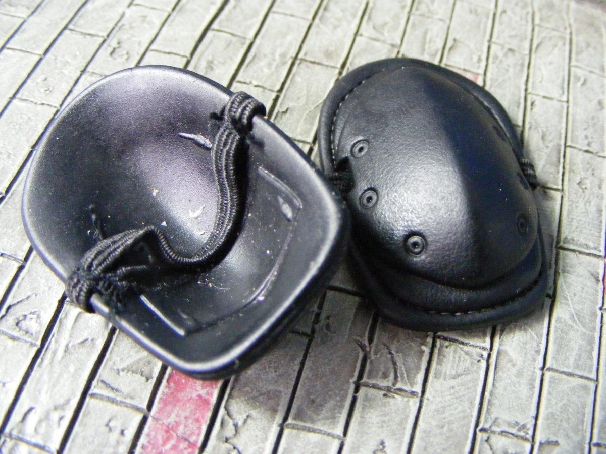 ■ 1/6スケール GIジョークールガール TACTICAL タクティカル GEAR NEE PAD Protector SET BLACK ブラックカラー新品未使用品!_画像9