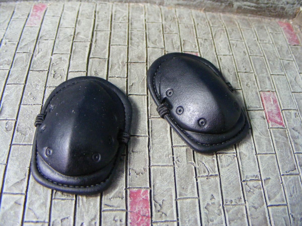 ■ 1/6スケール GIジョークールガール TACTICAL タクティカル GEAR NEE PAD Protector SET BLACK ブラックカラー新品未使用品!_画像5