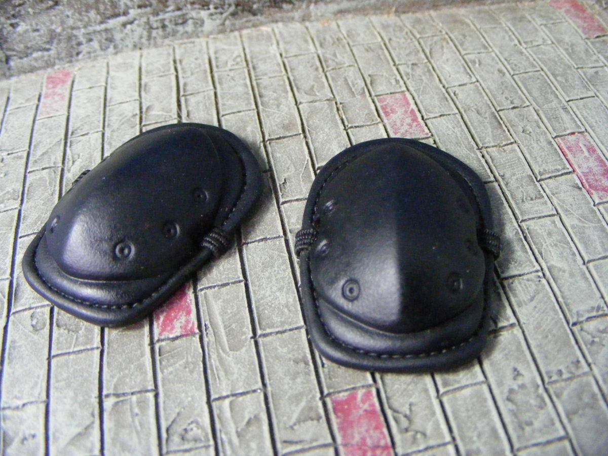 ■ 1/6スケール GIジョークールガール TACTICAL タクティカル GEAR NEE PAD Protector SET BLACK ブラックカラー新品未使用品!_画像7