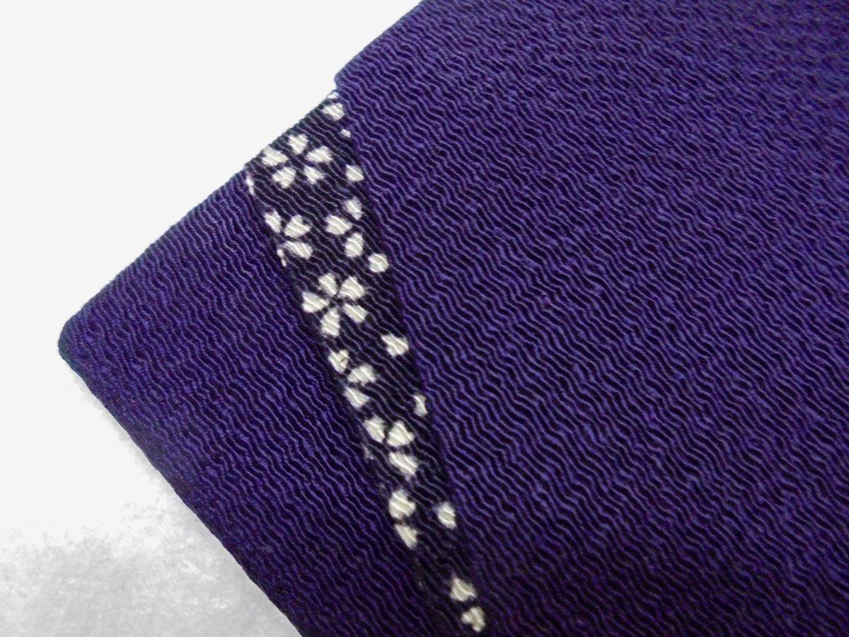 4863 祝儀袋 袱紗 *ご出産御祝*「紫紺・小桜」【わけあり】-_画像4