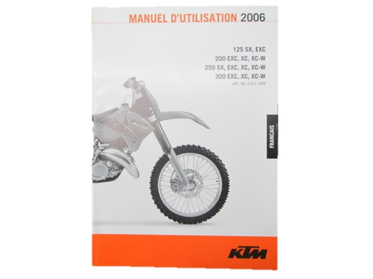 中古 KTM 正規 バイク 整備書 オーナーズマニュアル 正規 '06 125 SX EXC ~フランス語 車検 パーツカタログ 整備書_お届け商品は写真に写っている物で全てです