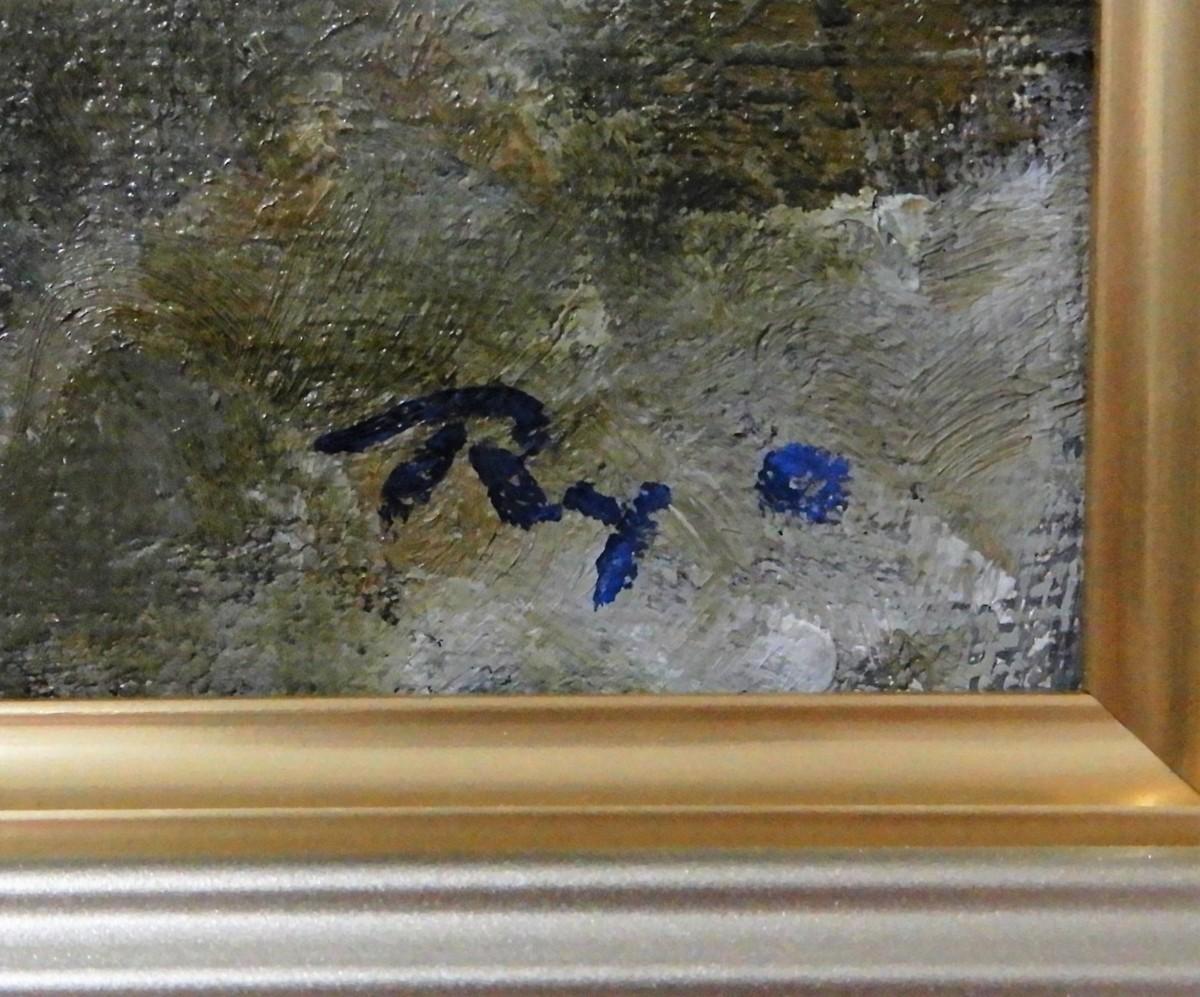 大幅な値下交渉歓迎受付中 田中良 『襟裳』 油彩 F10 風景画 二科会 二科会理事長【送料無料】_画像7