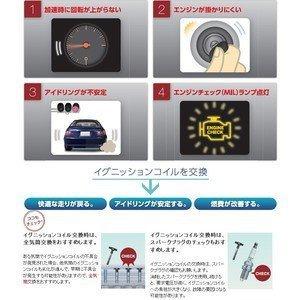 送料無料 安心の日本品質 日本特殊陶業 ワゴンRソリオ MA64S NGK イグニッションコイル U5157 4本_画像2