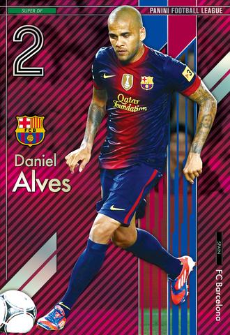 パニーニフットボールリーグ PFL04 スーパー SUPER ダニエウ・アウベス FCバルセロナ_画像1