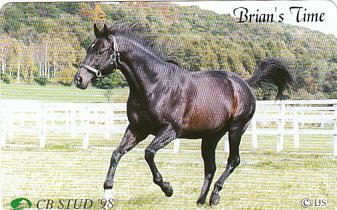 ●競馬 Brian's Time テレカ_画像1