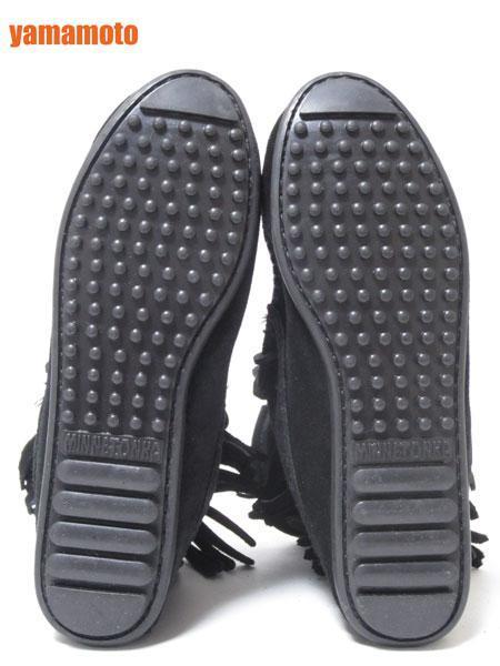 【美品】送料無料 MINNETONKA ミネトンカ フリンジ ショートブーツ ハーフブーツ レディース 靴 ブラック 6_画像8