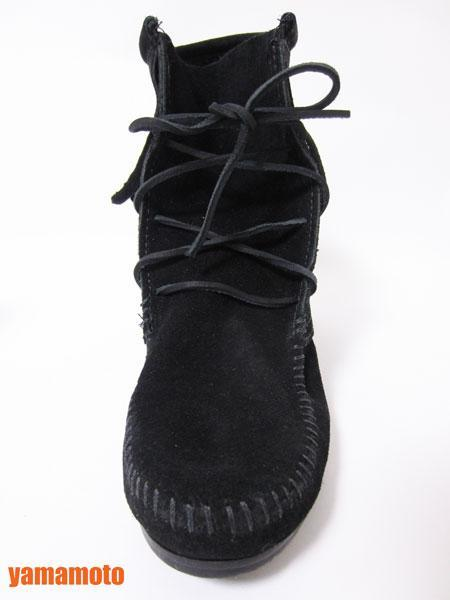 【美品】送料無料 MINNETONKA ミネトンカ フリンジ ショートブーツ ハーフブーツ レディース 靴 ブラック 6_画像5