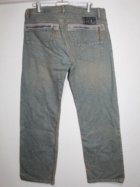 ライン LINE メンズデニムパンツ ブルー 34インチ ストレートジーンズ 新品_画像3