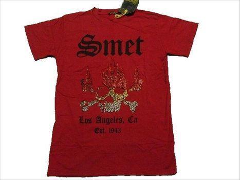 スメット SMET メンズ半袖Tシャツ Sサイズ レッド 新品 赤_画像1