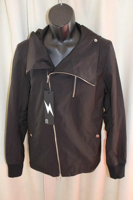 エイチワイエム hym メンズサイドジップブルゾン ジャケット ブラック サイズ48 日本製 新品_画像1