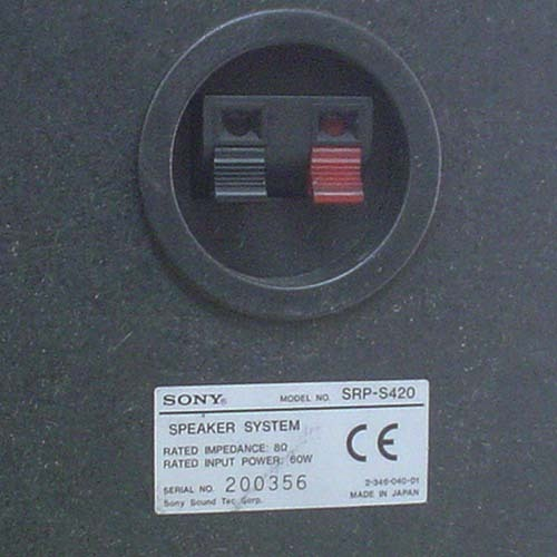 SONY/スピーカー『SRP-S420』(MADE IN JAPAN)×2_画像9