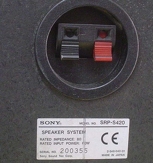SONY/スピーカー『SRP-S420』(MADE IN JAPAN)×2_画像8