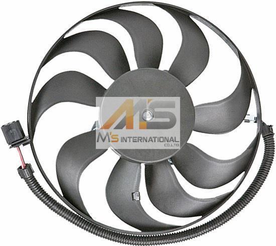 【M's】アウディ TT(8N)/A3(8L)ラジエーター 電動ファン(290mm)//純正OEM ラジエター ブロアファン アディショナルファン 1J0-959-455R_画像1