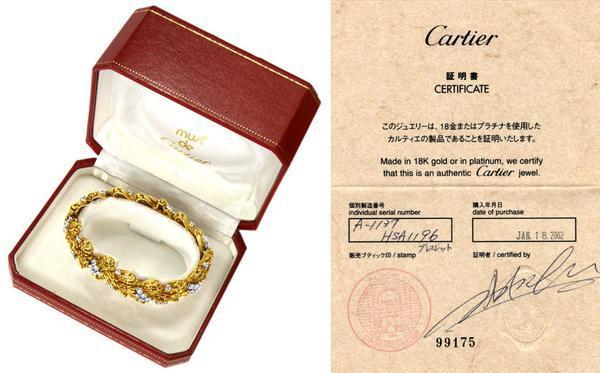74130【Cartier】Antique Diamond4.01ct YG/Pt Blaceret 66.5g_画像2