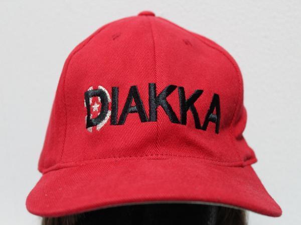 DIAKKA キャップ レッド キッズ L~XLサイズ 新品 フレックスフィット_画像1