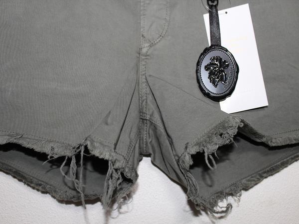 ブラックオーキッド BLACK ORCHID レディースショートパンツ 26インチ LIGHT OLIVE 新品 BLACK STAR MINI SHORT_画像2