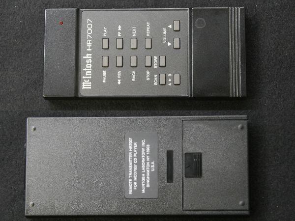中古 CDプレーヤー McIntosh/マッキントッシュ MCD7007_リモコンはジャンク品/保証なし