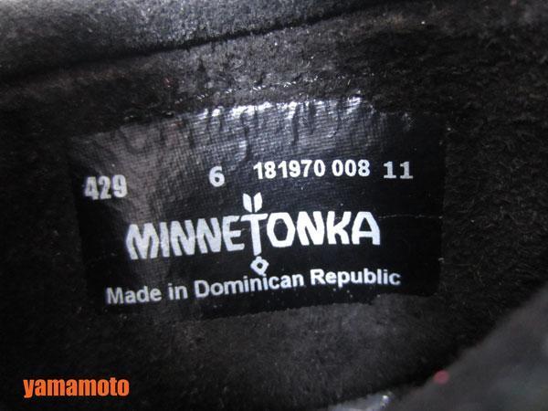 【美品】送料無料 MINNETONKA ミネトンカ フリンジ ショートブーツ ハーフブーツ レディース 靴 ブラック 6_画像7