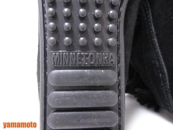 【美品】送料無料 MINNETONKA ミネトンカ フリンジ ショートブーツ ハーフブーツ レディース 靴 ブラック 6_画像9