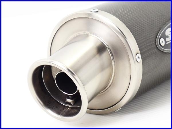 R◆良品♪STRIKER カーボン サイレンサーset 60.5Φ♪ZZR1100/1200/1400/CB1300SF/X4/XJR/V-MAX/GSX1300R/GSX1400♪_画像3
